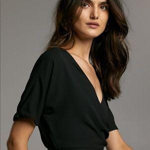 Aritzia Dresses - Aritzia black wrap dress.
